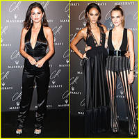 Selena Gomez & Cara Delevingne Rock Plunging Necklines at CR Fashion Book Launch