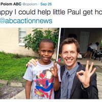 Reporting on Missing Boy, Reporter Spots Him